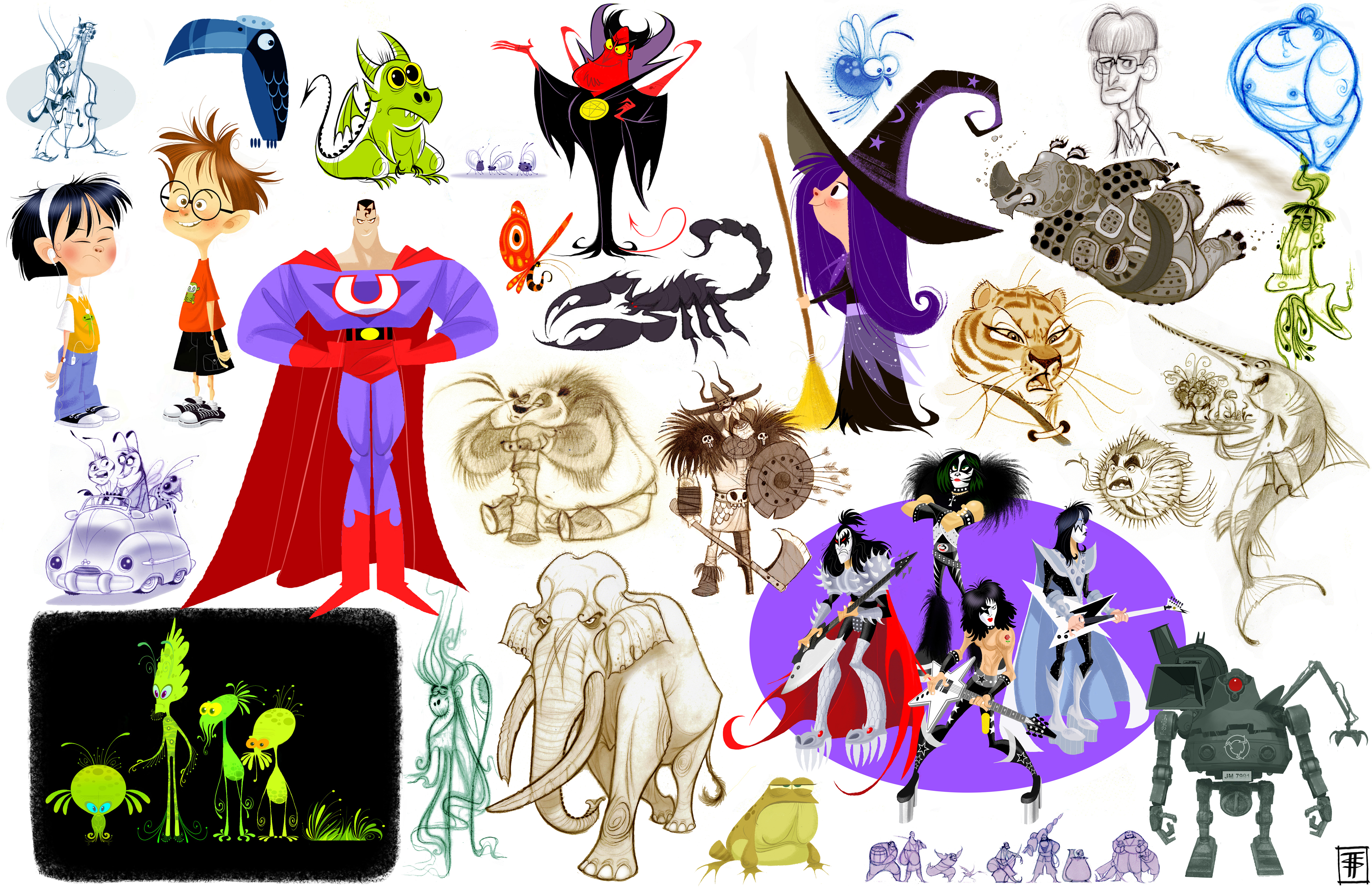 Character Design Dreamworks : Character page