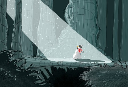 Snowman in the Forest 02